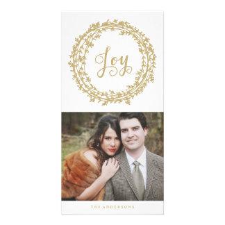 Joy Wreath   Holiday Photo Cards