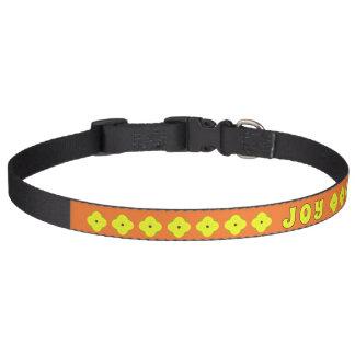 JOY yellow flower Pet Collar