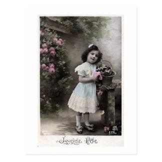 """Joyeuse Fete"" Vintage French Christmas Postcard"