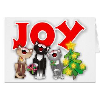 Joyful Cats Greeting Card