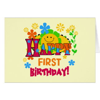 Joyful First Birthday T-shirts and Gifts Card