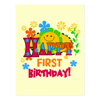 Joyful First Birthday T-shirts and Gifts Postcard