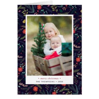 Joyful Foliage   Folded Holiday Photo Card