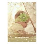 Joyful Lights Gold Happy Holidays Photo Card Personalized Invitations