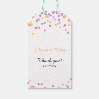Joyful | Modern Confetti Wedding Favour Tag