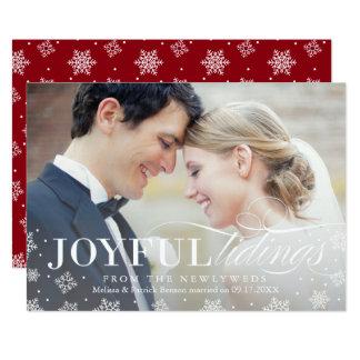 Joyful Tidings Newlywed First Christmas Card 13 Cm X 18 Cm Invitation Card