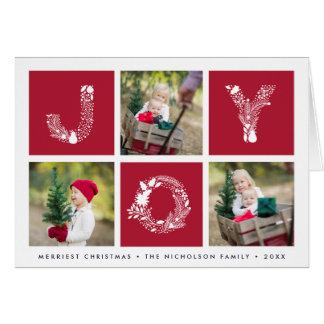 Joyful Type   Folded Holiday Photo Card