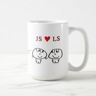 """JS heart LS"" Mugs"