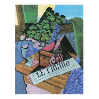 Juan Gris - Still Life with geraniums Postcard