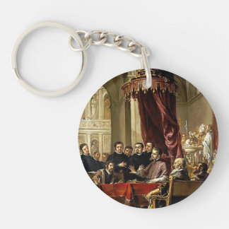 Juan Leal-Conversion and Baptism of St Augustine Acrylic Keychain