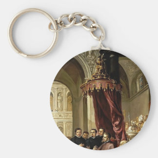 Juan Leal-Conversion and Baptism of St Augustine Keychains