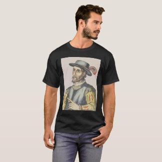 Juan Ponce DeLeon Vibrant on Black T-Shirt