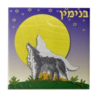 Judaica 12 Tribes Israel Benjamin Tile