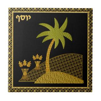 Judaica 12 Tribes of Israel Ceramic Tile - Iosef