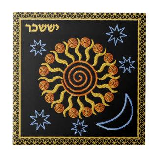 Judaica 12 Tribes of Israel Ceramic Tile - Issahar