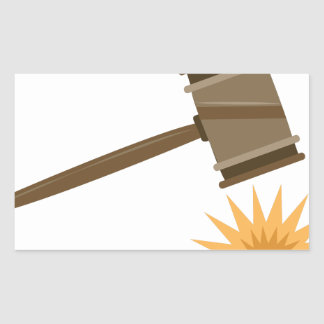 Judge Gavel Rectangular Sticker