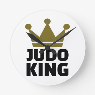 Judo King Round Clock