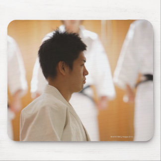 Judo Master Kneeling On a Mat Mouse Pad