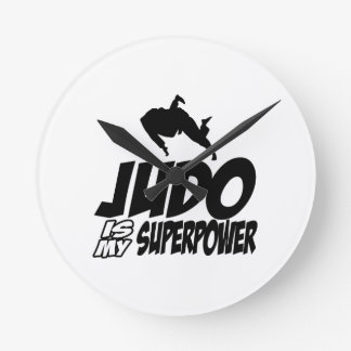 Judo Superpower Designs Round Clock