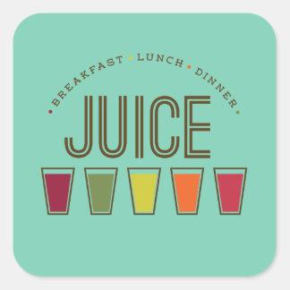 Juice - Breakfast, Lunch & Dinner. Juice Cleanse Square Sticker