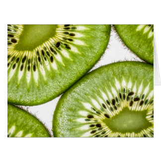Juicy kiwi slices card