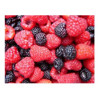 Juicy Raspberries Postcard