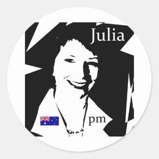Julia Gillard Round Sticker