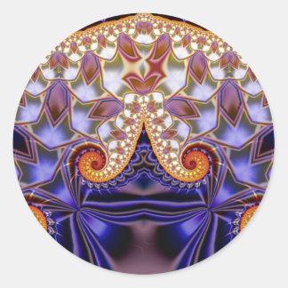 Julia Jewel Round Sticker