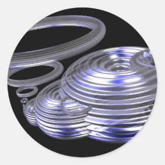 Julia ring classic round sticker