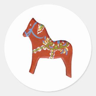 Julia's Dala Horse Classic Round Sticker