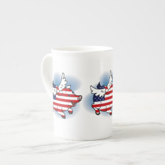 July 4 - 4th of July Patriotic Flying Pig(s) Tea Cup