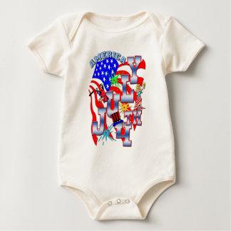July 4TH Baby Bodysuit
