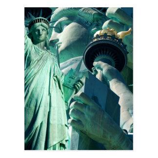 July 4th Celebration Lady Liberty Postcards
