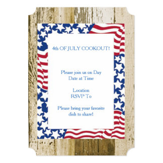 July 4th Cookout July 4th Party Invitation