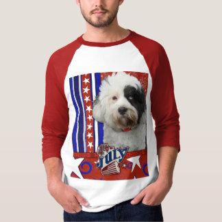 July 4th Firecracker - Tibetan Terrier T-Shirt