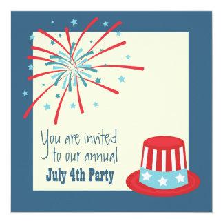 July 4th Fireworks Invite