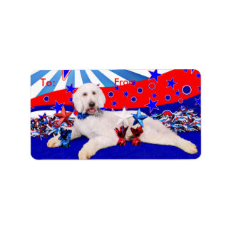 July 4th - GoldenDoodle - Max Label