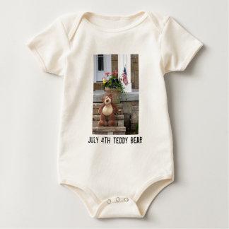 July 4th Teddy Bear Infant Creeper