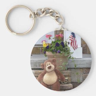 July 4th Teddy Bear Keychain