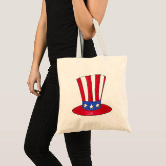 July 4th USA Patriotic Uncle Sam Top Hat Tote