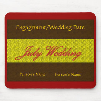 """July Wedding"" Mousepad -Customizable Mouse Pads"