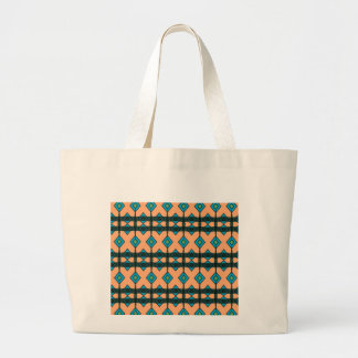 Jumbo Tote Bag with Southwestern Design