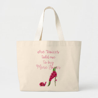 Jumbo Tote with a funny saying