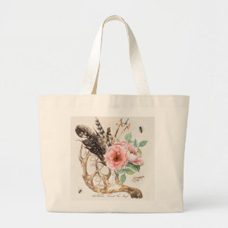 Jumbo Tote with Antler and Floral Design