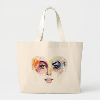 Jumbo Tote with Face Design