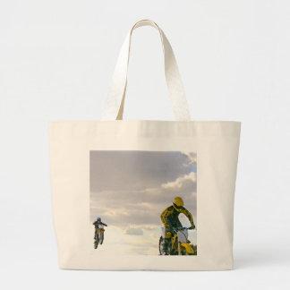 Jumping Bikes Large Tote Bag