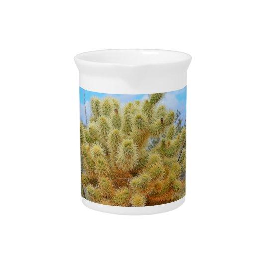 Jumping Cactus Porcelain Pitcher