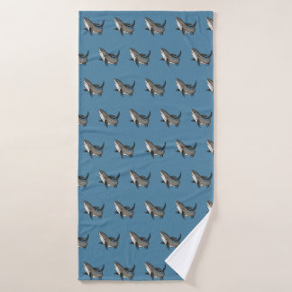 Jumping Great White Shark Bath Towel