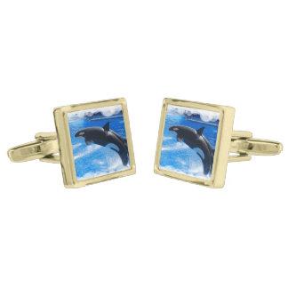 Jumping Orca Whale Cufflinks