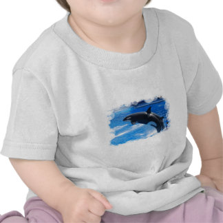 Jumping Orca Whale T Shirts